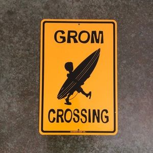 Other - GROM CROSSING, surfer bedroom decor, signage